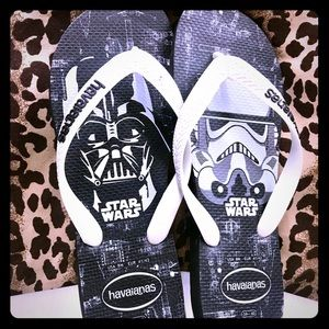 Shoes Flip flips Havaianas Star Wars